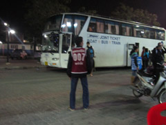 bus outside Suratthani train station