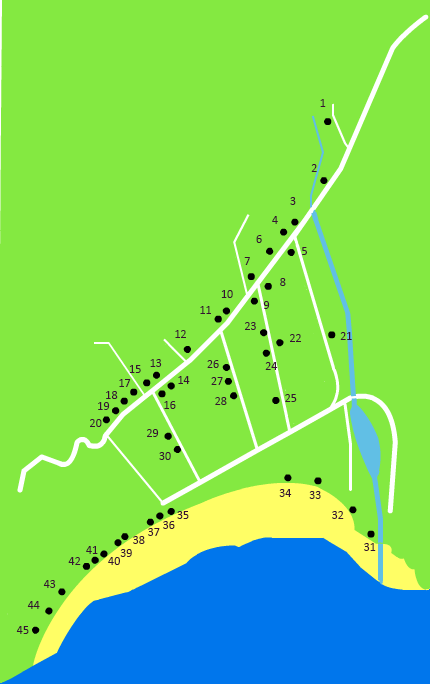 map of bars and restaurants in Thong Nai Pan Noi